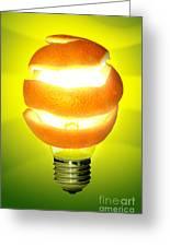 Orange Lamp Greeting Card by Carlos Caetano