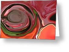 Orange Rose Abstract Greeting Card by Linnea Tober