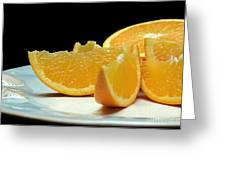 Orange Slices Greeting Card by Andee Design