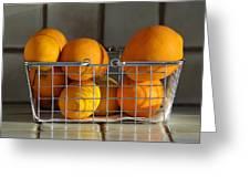 Orangey Greeting Card by Dan Holm