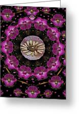 Orchids And Fantasy Flowers Greeting Card by Pepita Selles
