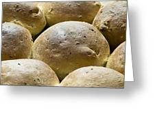 Organic Bread Rolls Greeting Card by Frank Tschakert