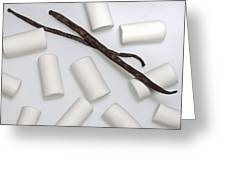 Organic Marshmallows With Vanilla Greeting Card by Joana Kruse