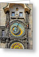 Orloj - Prague Astronomical Clock Greeting Card by Christine Till