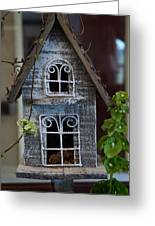 Ornamental Bird House Greeting Card by Douglas Barnett
