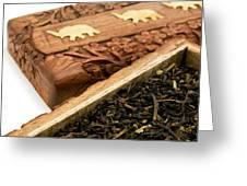 Ornate Box With Darjeeling Tea Greeting Card by Fabrizio Troiani