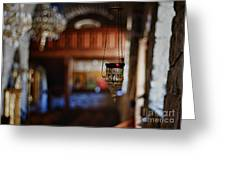 Orthodox Church Oil Candle Greeting Card by Stelios Kleanthous