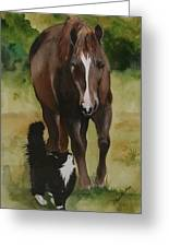 Oscar And Friend Greeting Card by Jean Blackmer