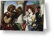 Othello And Desdemona Greeting Card by Daniel Maclise