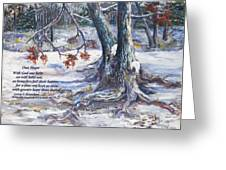 Our Hope With Poem Greeting Card by George Richardson