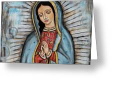 Our Lady Of Guadalupe Greeting Card by Rain Ririn