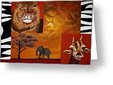 Out Of Africa Greeting Card by Susan McLean Gray