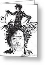 Out Of Tim Burton Greeting Card by Jason Kasper
