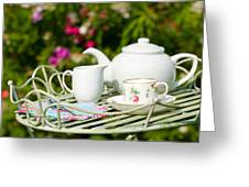 Outdoor Tea Party Greeting Card by Amanda And Christopher Elwell
