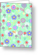 Overlayer Flowers  Greeting Card by Louisa Knight