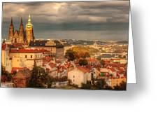 Overlook Prague Greeting Card by John Galbo