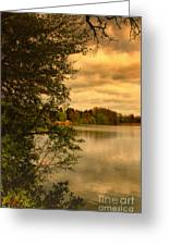 Overlooking The Lake Greeting Card by Jutta Maria Pusl