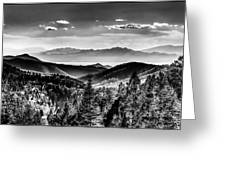 Overlooking The Southwest Greeting Card by Christopher Wieck