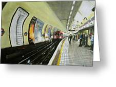 Oxford Circus Station Greeting Card by Paul Mitchell