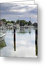 Oxford City Dock Eastern Shore Of Maryland Greeting Card by Brendan Reals
