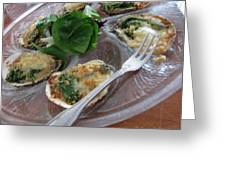 Oysters Rockefeller Greeting Card by Anne Babineau