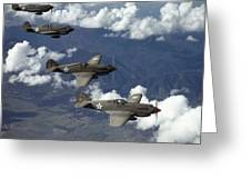 P-40 Pursuits Of The U.s. Army Air Greeting Card by Luis Marden