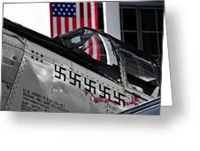 P 51 Mustang Greeting Card by David Lee Thompson