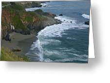 Pacific Coast California Highway 1 Seascape Greeting Card by Gregory Scott