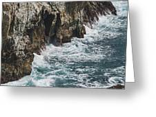 Pacific Coast Highway Seascape Greeting Card by Gregory Scott