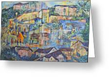 Pacific Palisades Greeting Card by Lily Hymen