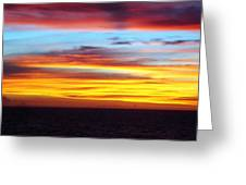 Pacific Sunset 5 Greeting Card by Laura Porumb