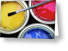 Paint Cans Greeting Card by Carlos Caetano
