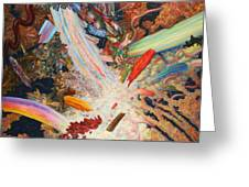 Paint Number 39 Greeting Card by James W Johnson