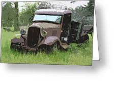 Painted 30's Chevy Truck Greeting Card by Steve McKinzie