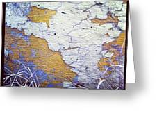 Painted Concrete Map Greeting Card by Anna Villarreal Garbis