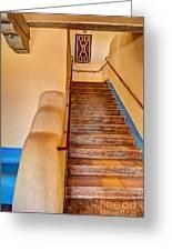 Painted Desert Inn Stairway Greeting Card by Bob and Nancy Kendrick
