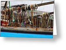 Painted Rope Coils Greeting Card by Brenda Giasson