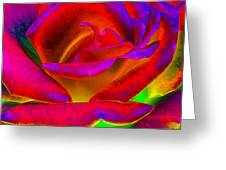 Painted Rose 1 Greeting Card by Will Borden