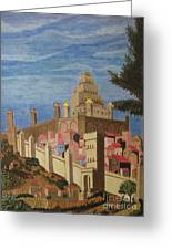 Painting   Medieval City Greeting Card by Judy Via-Wolff