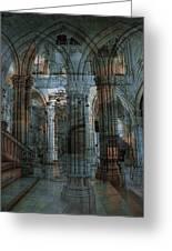Palace Hall Greeting Card by Angel Jesus De la Fuente
