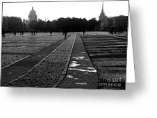 Palace Square In Saint Petersburg Greeting Card by Design Remix