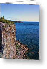 Palisade Head Cliffs Greeting Card by Bill Tiepelman