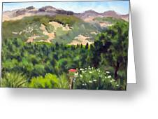 Palisades From Lerne Greeting Card by Char Wood