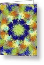 Pallet Of Colors Greeting Card by Deborah Benoit