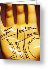 Palmistry Greeting Card by Pasieka