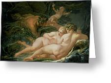 Pan And Syrinx Greeting Card by Francois Boucher