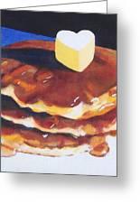 Pancakes Greeting Card by Sarah Vandenbusch