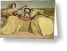 Panel For Music Room Greeting Card by John White Alexander