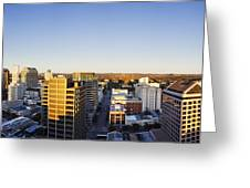 Panoramic City Skyline Greeting Card by Jeremy Woodhouse