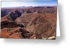 Panormaic View Of Canyonland Greeting Card by Robert Bales
